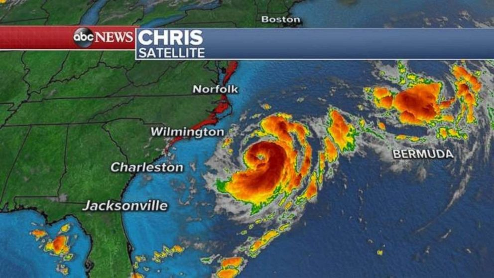 Chris should strengthen into a hurricane on Tuesday.