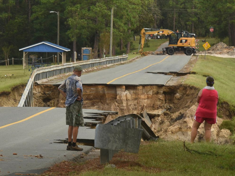 President Trump surveys storm damage in NC