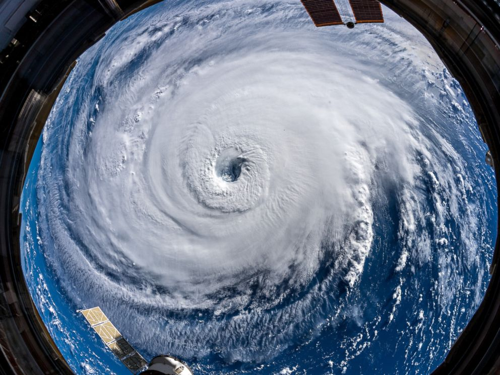 PHOTO: Ever stared down the gaping eye of a category 4 hurricane? Its chilling, even from space. #HurricaneFlorence #Horizons