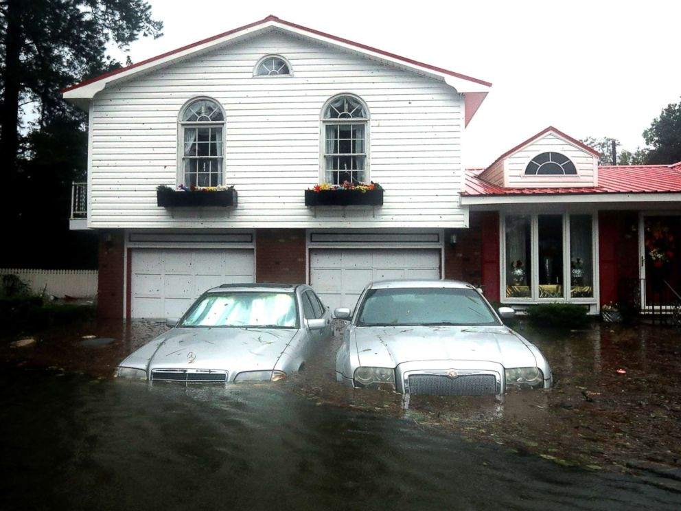 PHOTO: Homes are flooded after a storm surge from Hurricane Florence flooded the Neuse River on Sept. 14, 2018, in New Bern, N.C.