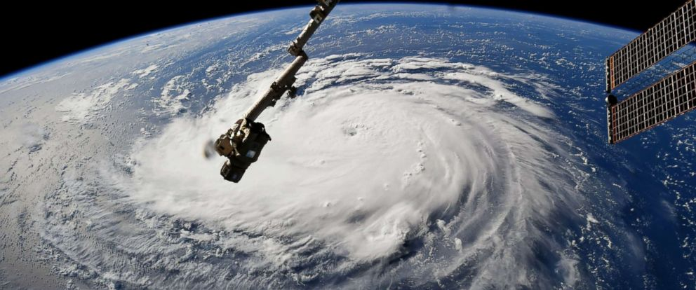 PHOTO: Hurricane Florence seen from the International Space Station, Sept. 10, 2018.