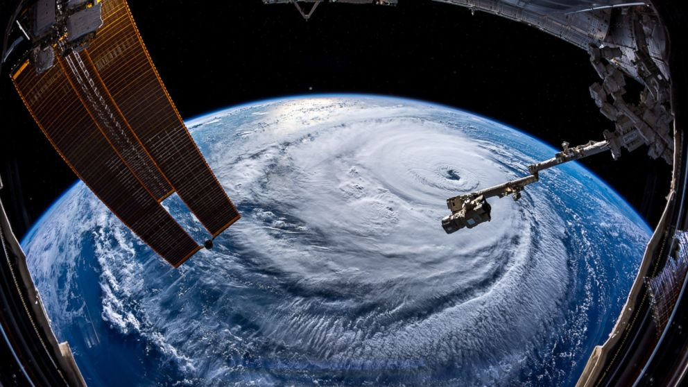 Watch out, America! Hurricane Florence is so enormous, we could only capture her with a super wide angle lens from #ISS, 400 km directly above the eye. Get prepared on the East Coast, this is a no-kidding nightmare coming for you.