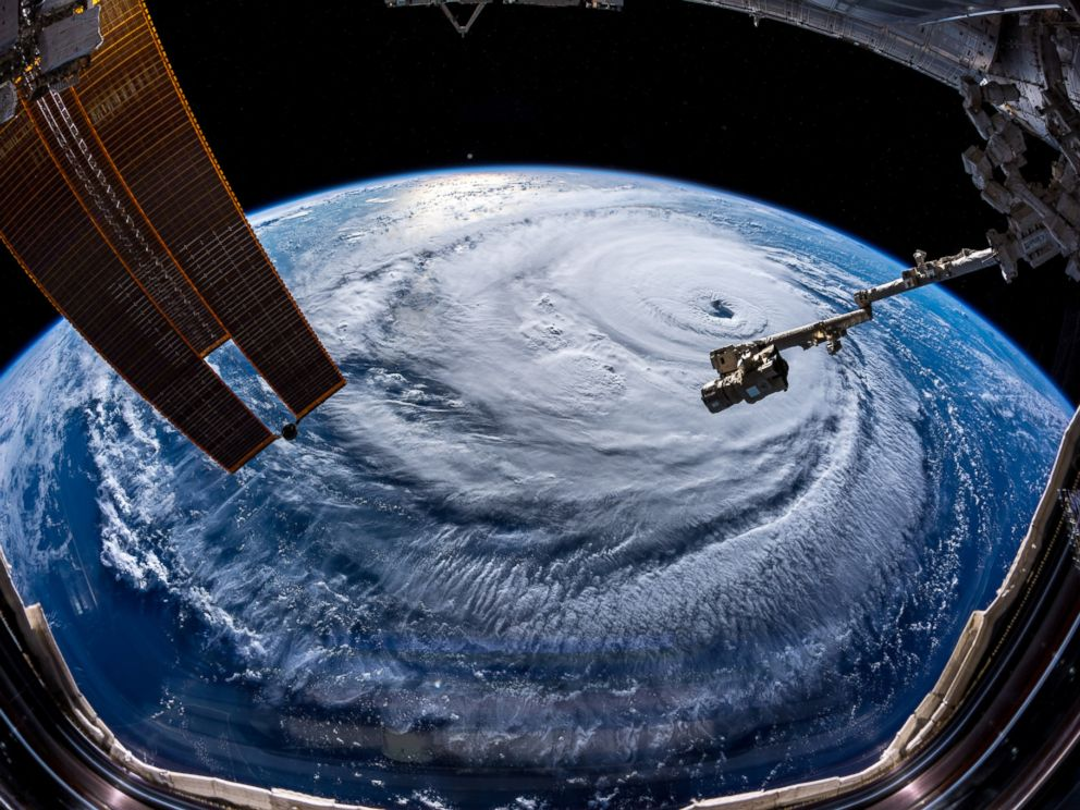 PHOTO: Watch out, America! Hurricane Florence is so enormous, we could only capture her with a super wide angle lens from #ISS, 400 km directly above the eye. Get prepared on the East Coast, this is a no-kidding nightmare coming for you.