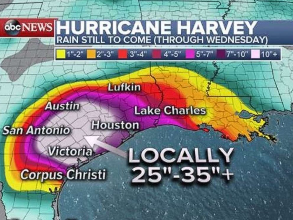 po another 25 to 30 inches of rain is forecast to aculate across southeastern texas