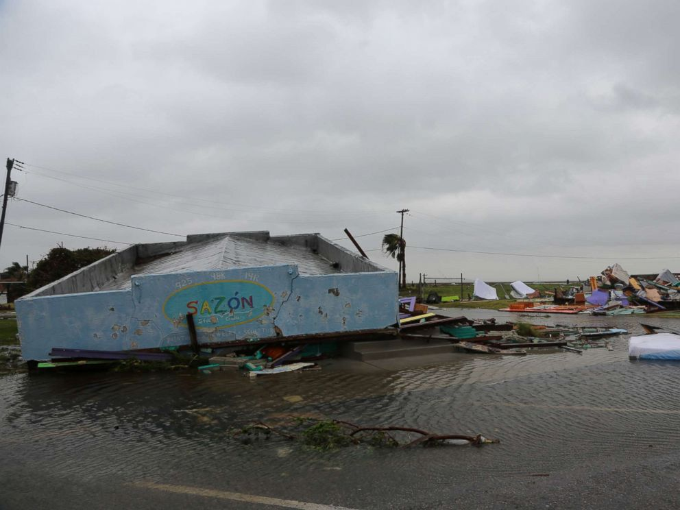 PHOTO: Rockport, Texas has been hard hit by Hurricane Harveys wrath of torrential rain and high wind, Aug. 26. 2017.
