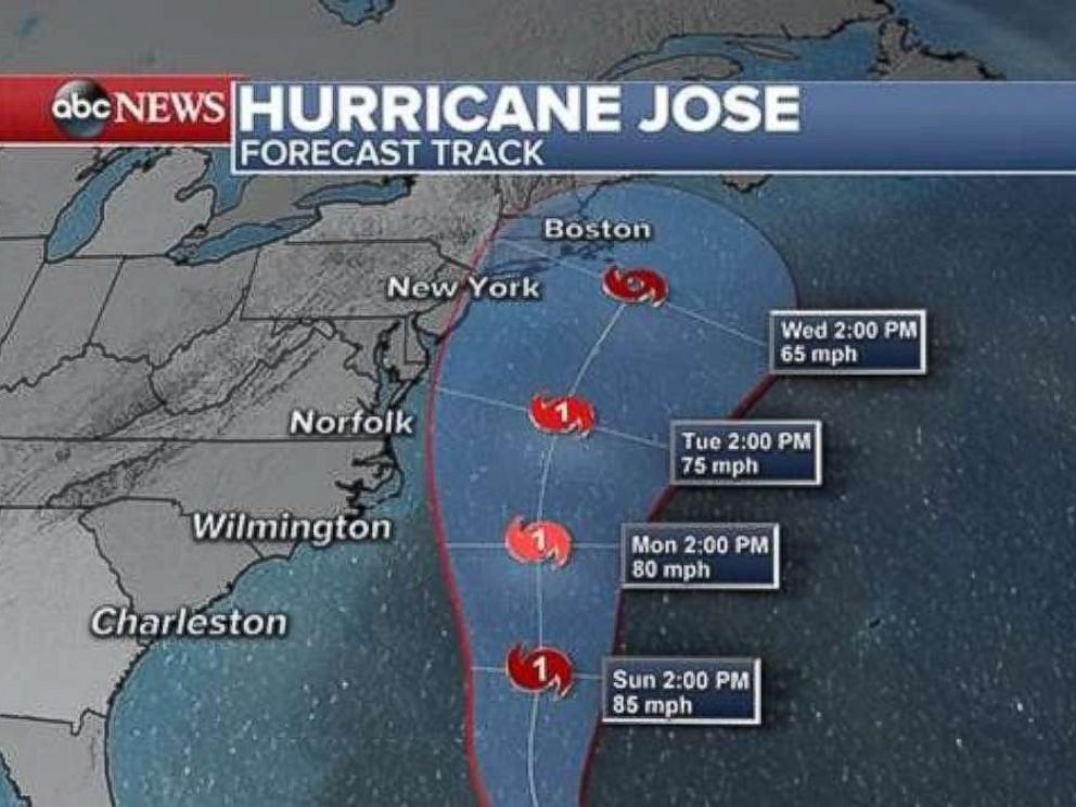 PHOTO: Hurricane Joses forecast is seen here.
