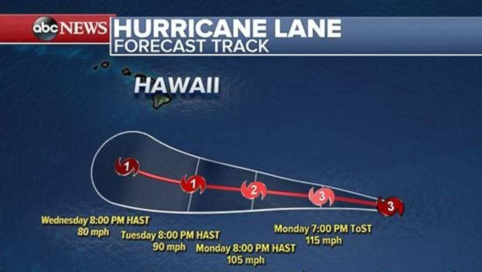 Some uncertainty exists as to Lanes track once we get to the middle of this week.