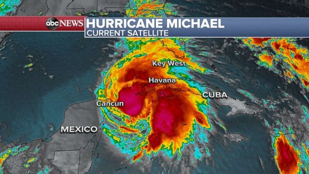 PHOTO: Hurricane Michael passes the Western top of Cuba, Oct. 8, 2018.