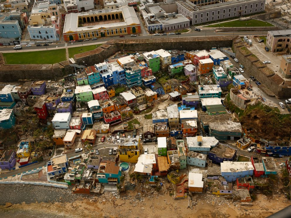 PHOTO: A view of Old San Juan after Hurricane Maria devastated Puerto Rico, Sept. 25, 2017.