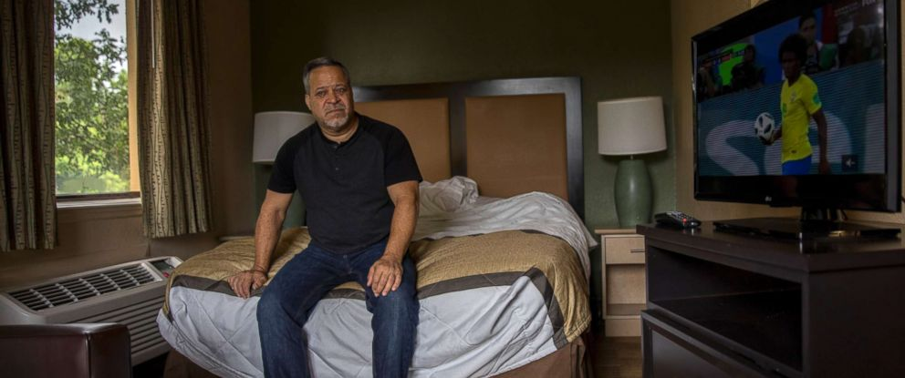 PHOTO: Richard Gonzalez, 53, lived at the Extended Stay America hotel in Fort Lauderdale, Fla., for two months under a FEMA voucher program for Puerto Ricans displaced by Hurricane Maria. Now that the program is ending, hes not sure where to go.