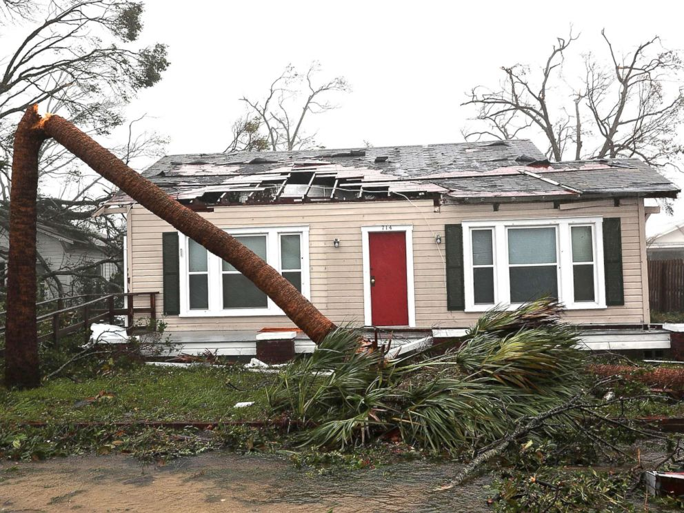 PHOTO: A damaged home is seen after hurricane Michael passed through the area on Oct. 10, 2018, in Panama City, Fla.