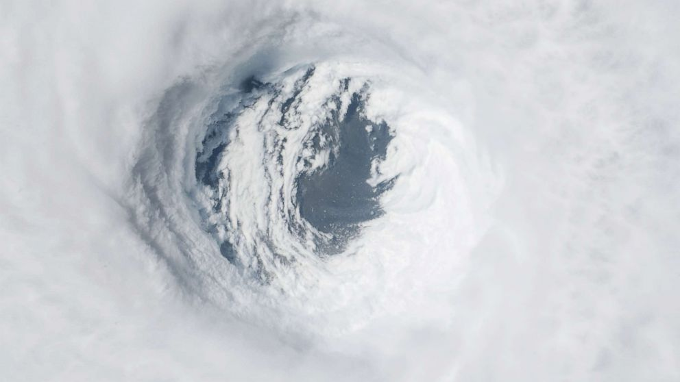 A view from the International Space Station of Hurricane Michael as it churns strikes the Panhandle of Northwest Florida on Oct. 10, 2018, in Earth Orbit.