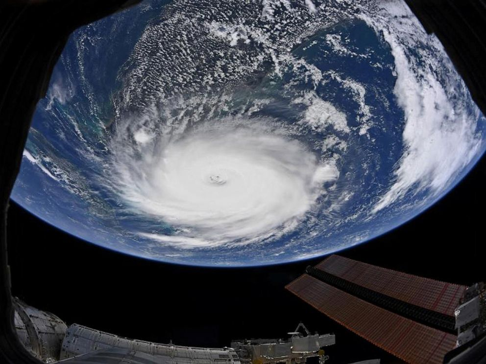 PHOTO: Hurricane Dorian is shown from the International Space Station more than 200 miles above the earth as it churns in the north-western Caribbean near the United States mainland in this photo taken September 2, 2019.
