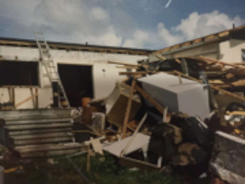 PHOTO: Bryan Petersen, 29, told ABC News that only a stump of a house was left after Hurricane Andrew caused chest-deep waters to flood his familys home in south Miami.