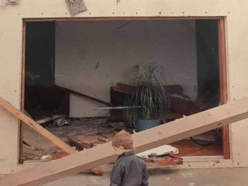 PHOTO: Although the Redlands home of psychologist Steve Warner was significantly damaged in the storm, it saved their lives, he told ABC News. The Warner family had their home reconstructed.