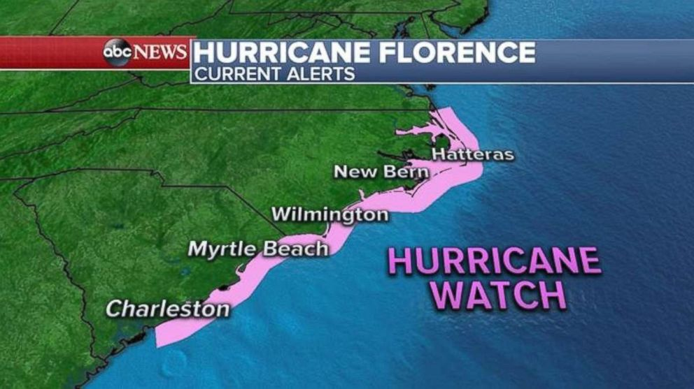 Hurricane Florence: Warnings of life-threatening surge