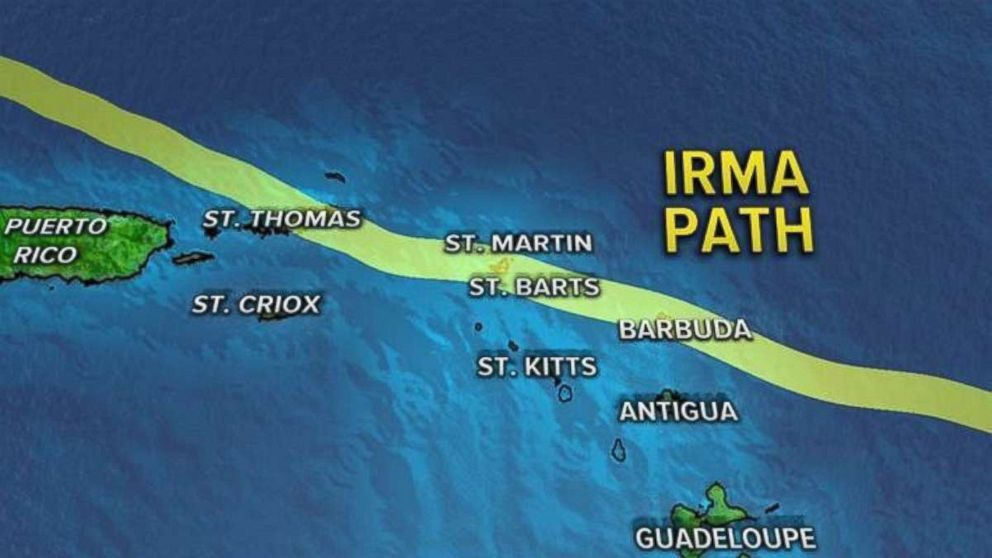 GRAPHIC: In this graphic, shows the path of Hurricane Irma.