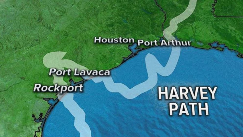 GRAPHIC: In this graphic, shows Hurricane Harveys path.