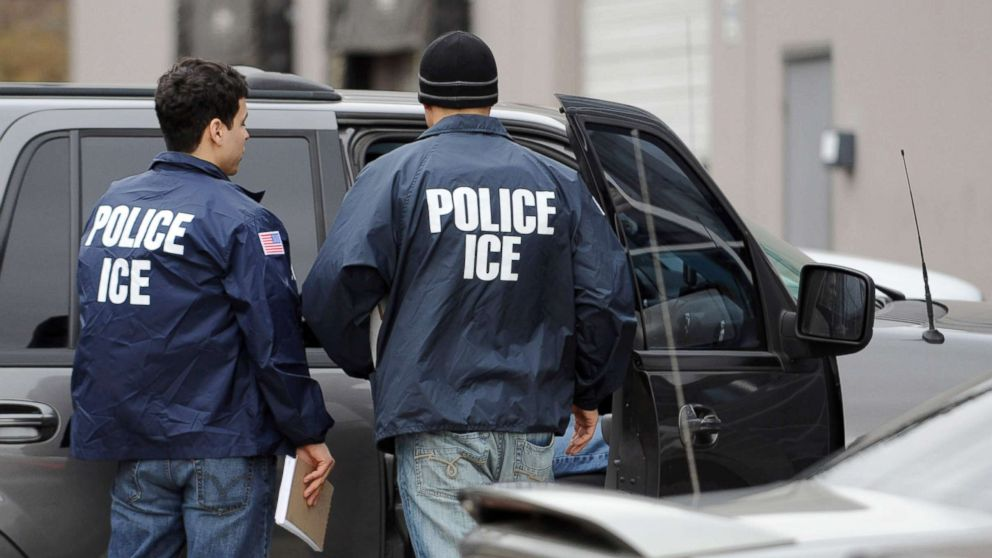 U.S. Immigration and Customs Enforcement agents leave the Yamato Engine Specialist plant in Bellingham, Washington, after raiding the plant for illegal immigrants, Feb. 24, 2009, FILE.