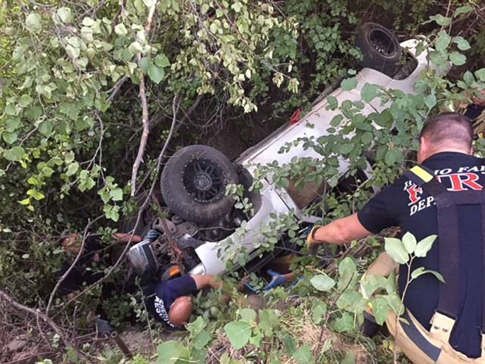 PHOTO: A 21-year-old man who had been missing for several days was found alive trapped beneath an overturned truck in the foothills of Idaho Falls, Idaho, Aug. 6, 2018.