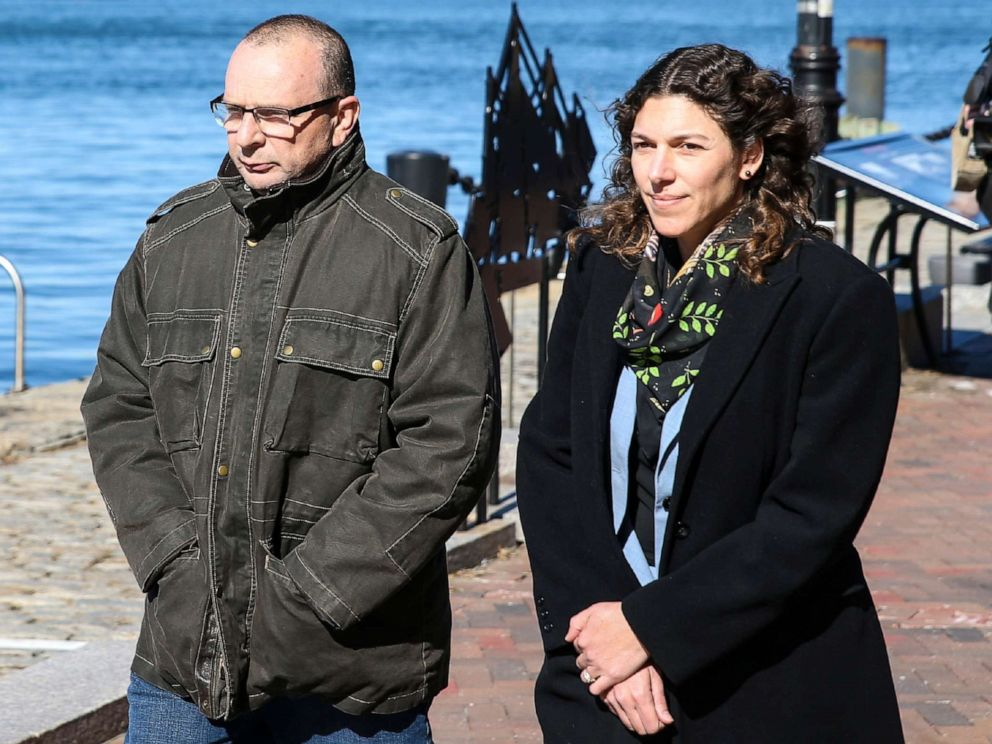 hollywood PHOTO: Igor Dvorskiy, left, director of a private elementary and high school in Los Angeles and standardized test administrator for the College Board and ACT Inc., is pictured outside the John Joseph Moakley Courthouse in Boston, March 25, 2019.