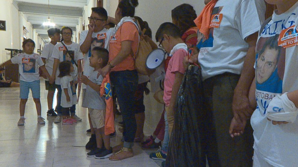 PHOTO: The families of five undocumented men detained by the Immigration Customers and Enforcement agency visited Capitol Hill on Wednesday to meet with legislatures in hopes of freeing their loved ones.