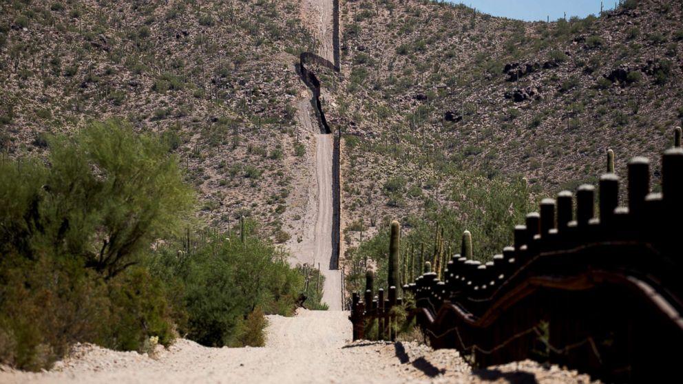 The U.S.-Mexico border is seen near Lukeville, Pima County, Ariz., Sept. 11, 2018.