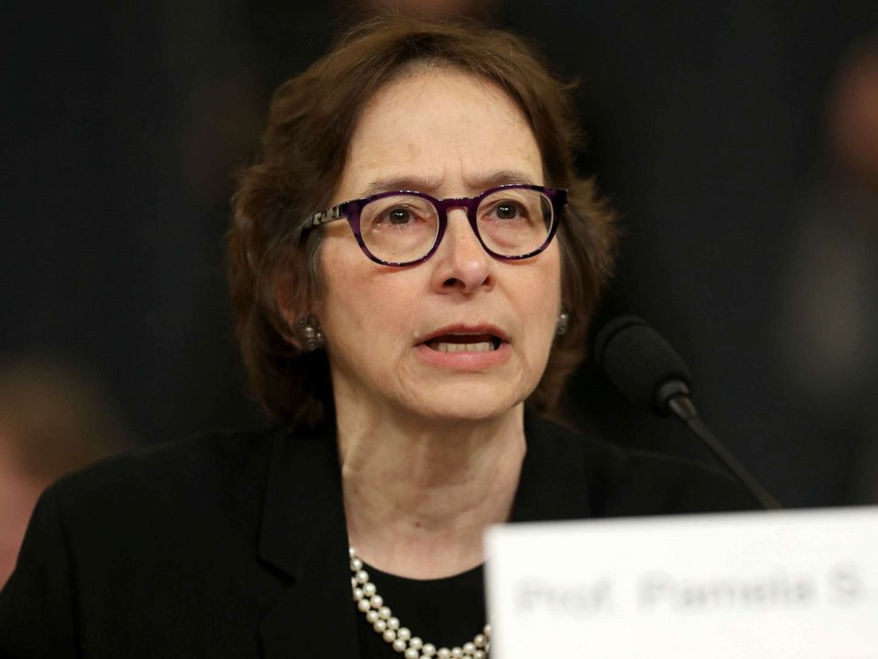 PHOTO: Constitutional scholar Pamela Karlan of Stanford University testifies before the House Judiciary Committee in the Longworth House Office Building on Capitol Hill Dec. 4, 2019, in Washington.
