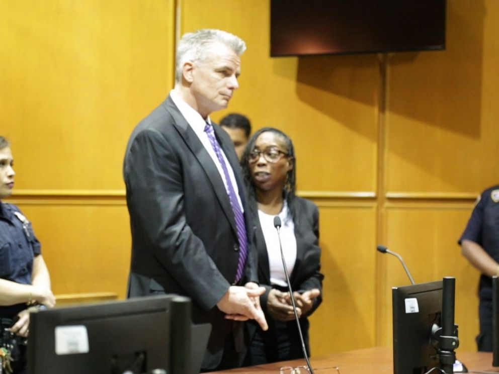 PHOTO: Donna Francis with her attorney was sentenced to one year in prison for the death of Kelly Mayhew, Nov. 14, 2019, in New York.