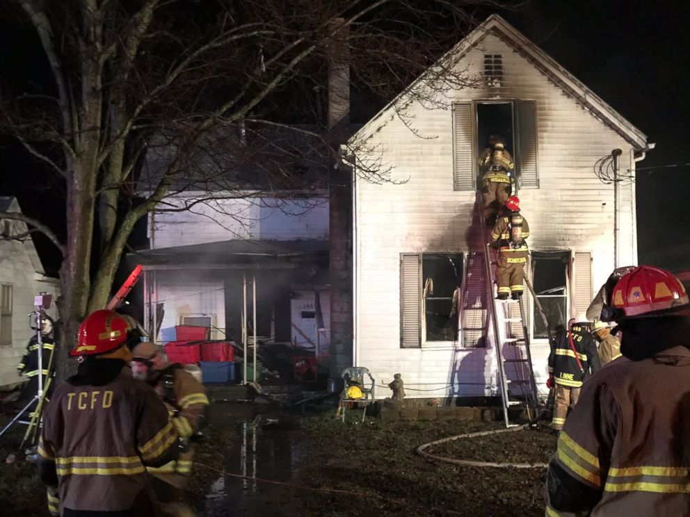 PHOTO: Firefighters to the scene of a fatal fire in Tell City, Ind., in a photo released on the Indiana Homeland Security Twitter account.