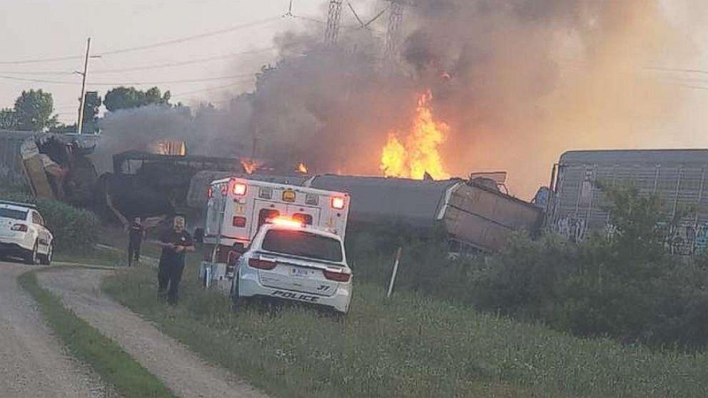 Train derailment causes explosion, prompts evacuations