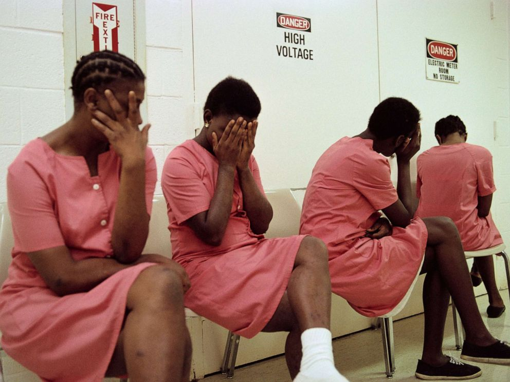 PHOTO: An undated photo of female inmates.