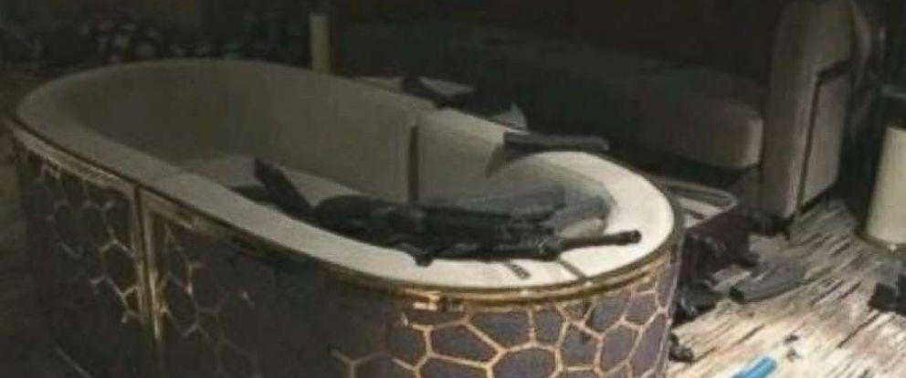 Inside gunman Stephen Paddocks hotel room at the Mandalay Hotel in Las Vegas.