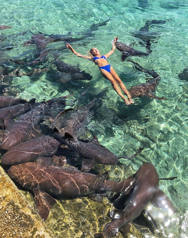 PHOTO: Katarina Zarutskie was bitten on the wrist by a nurse shark in the Bahamas.