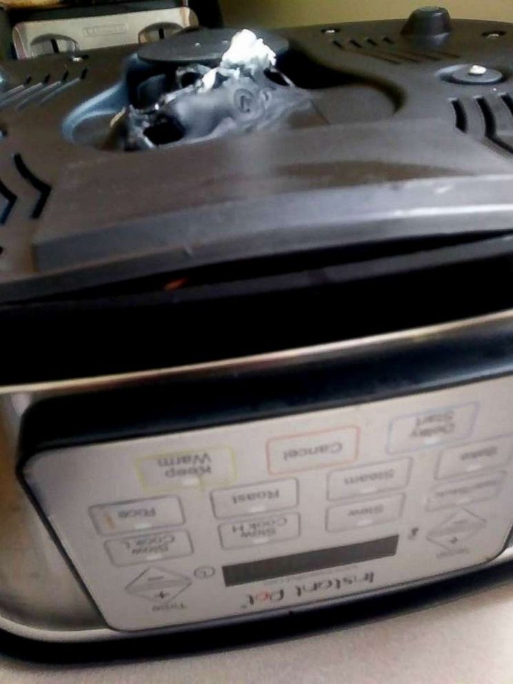 PHOTO: Vanessa LaClair says her Instant Pot was melted on the bottom and that its wires had seemingly been scorched.