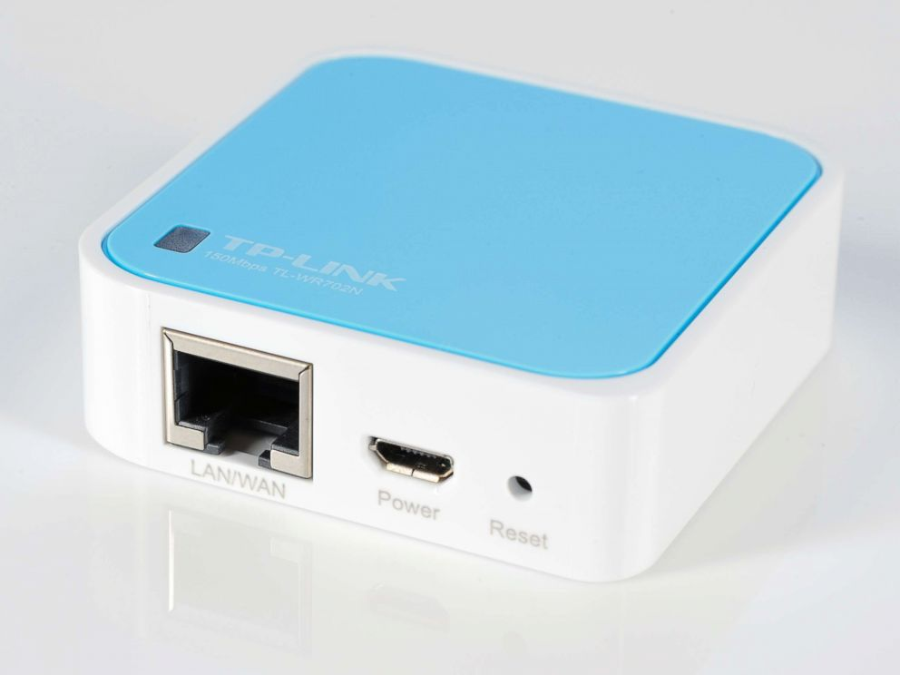 PHOTO: A TP-Link 150Mbps Wireless N Nano Router is photographed during a studio shoot for PC Format Magazine, November 14, 2012.