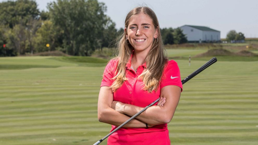 Golfer Celia Barquin Arozamena poses for a photo, Sept. 7, 2017. The former Iowa State University golfer was found dead on Sept. 17, 2018, at a golf course in Ames, Iowa.