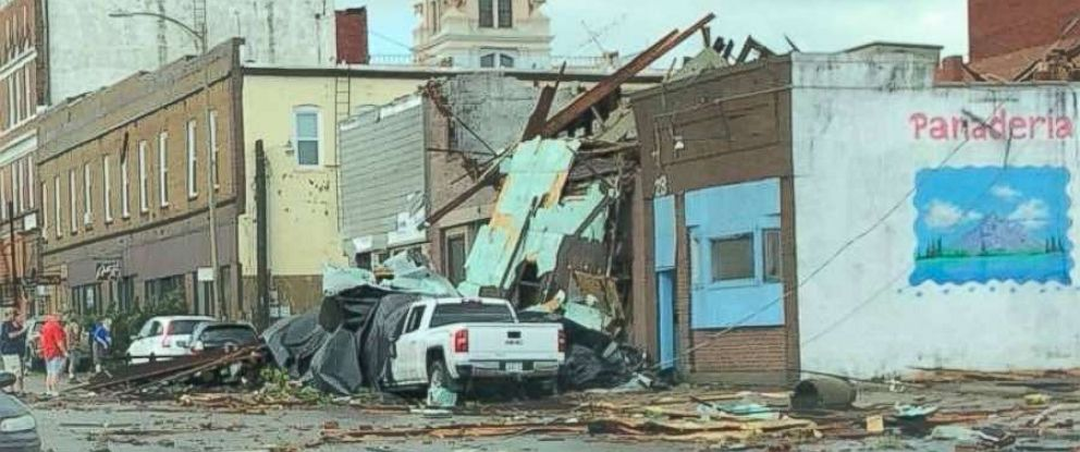 PHOTO: Destruction from a tornado in Des Moines, Iowa, July 19, 2018.