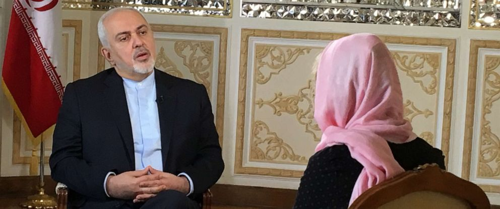 PHOTO: Iranian Foreign Prime Minister Javad Zarif sits down for an interview with ABC News Martha Raddatz, June 2, 2019.