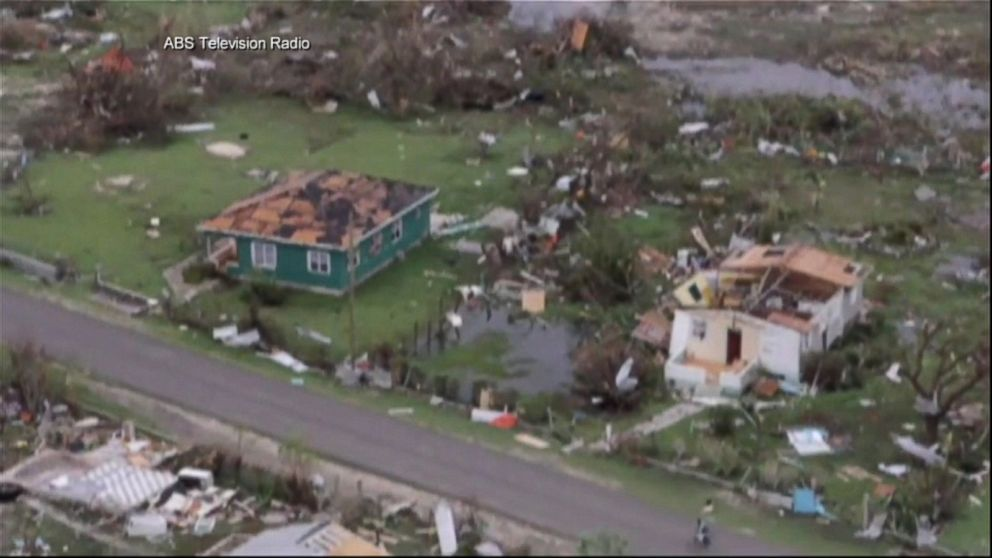 A view of the aftermath of Hurricane Irma in Barbuda, Sept. 6, 2017.