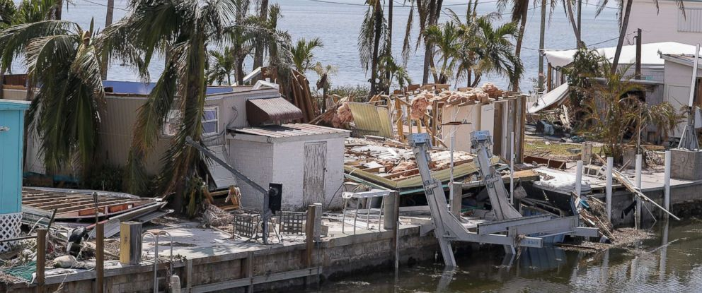 PHOTO: Homes are destroyed after Hurricane Irma struck the Florida Keys in Marathon, Fla., Sept. 12, 2017.