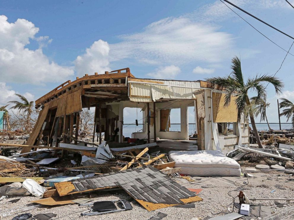 PHOTO: Debris surrounds a destroyed structure in the aftermath of Hurricane Irma, Wednesday, Sept. 13, 2017, in Big Pine Key, Fla.
