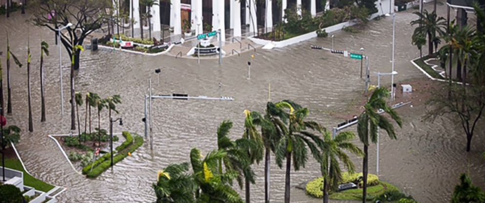 PHOTO: Flooded streets in Miami, Florida, Sept. 10, 2017.