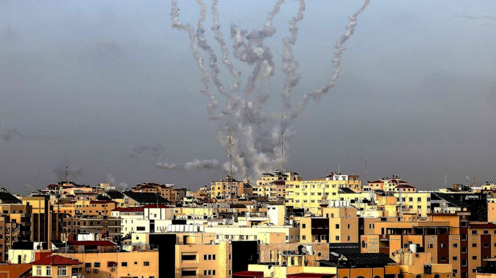 Rockets launched at Jerusalem by militant group Hamas, leading to unrest