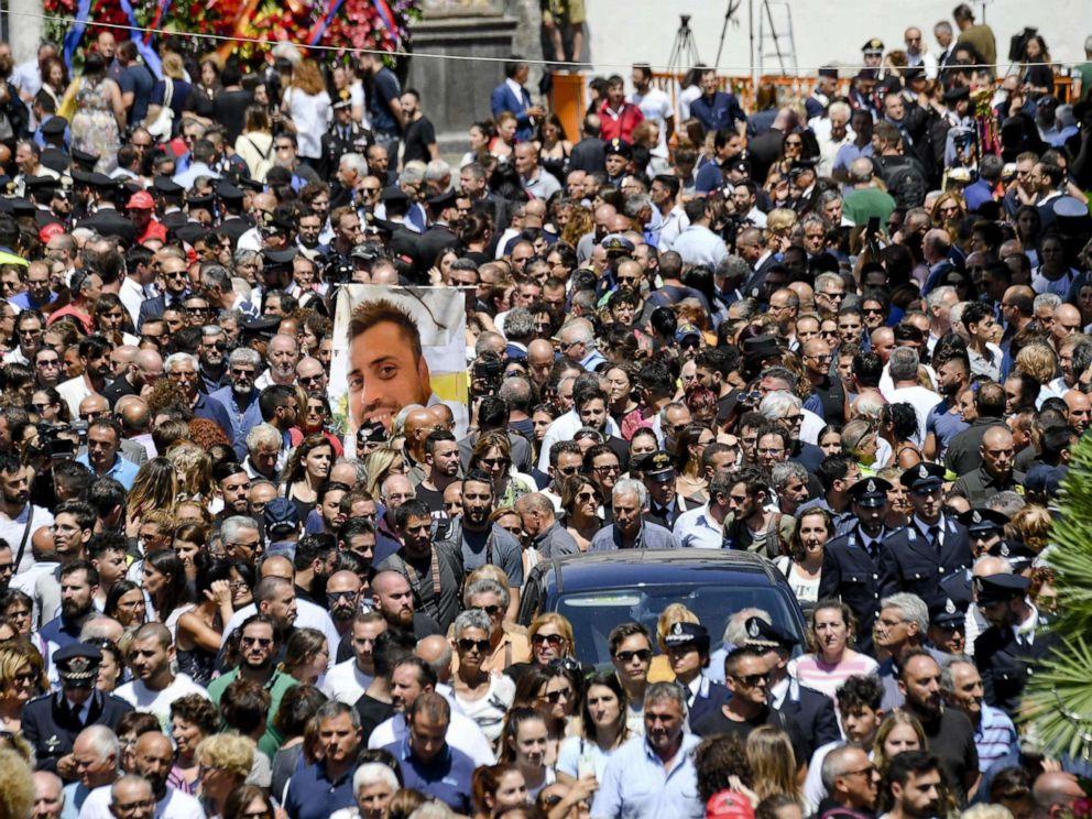 Widow of Italian police officer Mario Cerciello Rega bids