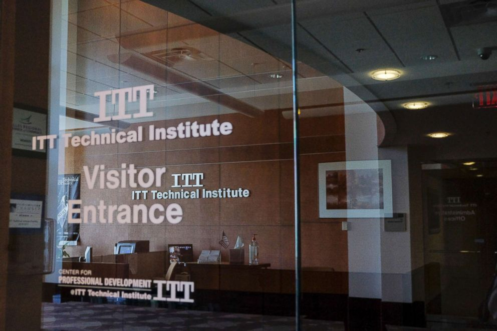 PHOTO: The Chantilly Campus of ITT Technical Institute sits closed on Sept. 6, 2016, in Chantilly, Va.