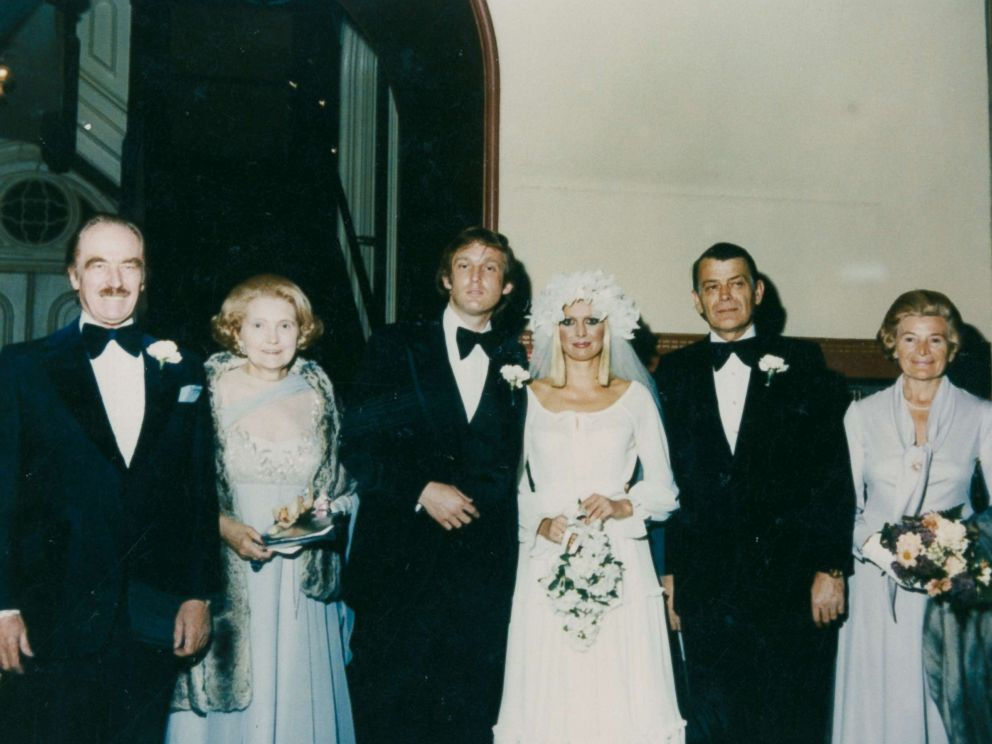 PHOTO: Ivana Trump shares a photo from her wedding to Donald Trump in 1977 featuring Fred Trump, Mary Trump, Donald Trump, Ivana Trump, Ivanas father and her aunt, from left to right.