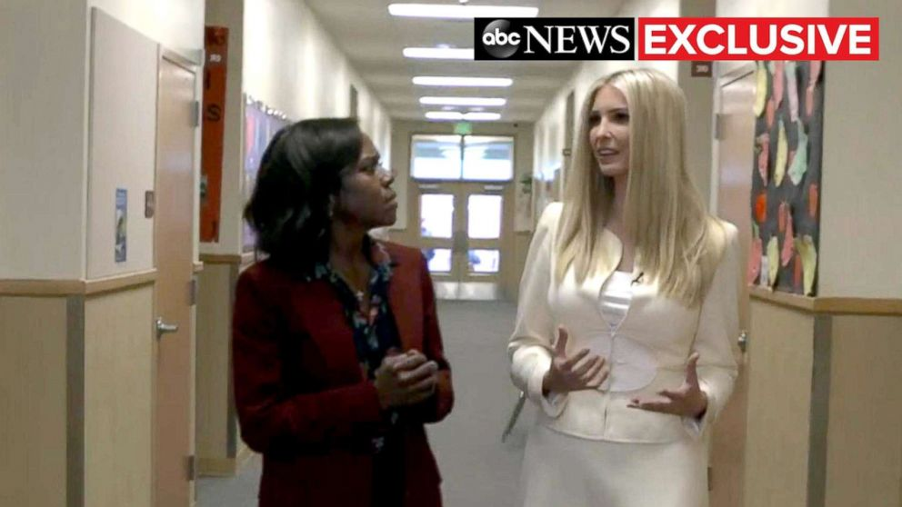 Ivanka Trump sits down with ABC News' Deborah Roberts for an exclusive interview, Nov. 27, 2018.