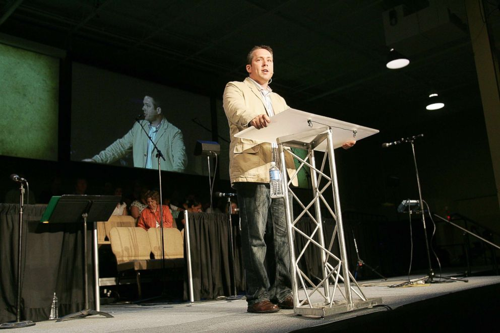 J.D. Greear, senior pastor of Summit Church, speaks from the pulpit during Sunday service at Summit Church Sunday, June 15, 2008 in Durham, N.C.
