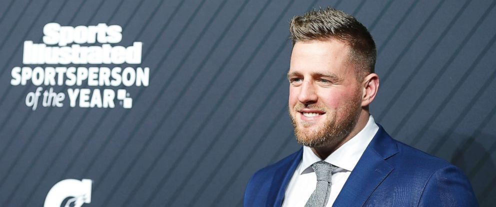 PHOTO: J.J. Watt of the Houston Texans attends 2017 Sports Illustrated Sportsperson of the Year Awards at on Dec. 5, 2017, in New York City.